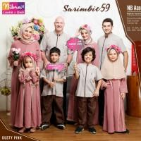 Baju Muslim Sarimbit Keluarga Nibras Family 59 Pink Setelan Couple