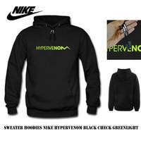 Sweater hoodie nike hypervenom black check greenlight
