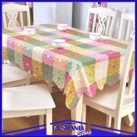 Taplak Meja Makan Anti Air Taplak Meja Plastik Lebih Tebal dan Lebar