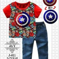 Baju Anak Import Branded Setelan Anak Laki Laki Captain America