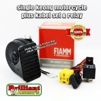 Klakson Single Keong FIAMM Original - Sepeda Motor - Plus Kabel Set da