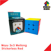 Rubik 3x3 Moyu MEILONG Stickerless Red / Speedcube