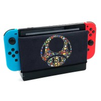 Nintendo Switch sarung dock Case Mario Black