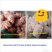 Kerupuk Keriting, Kemplang dan Tekwan Udang Kering Asli 100% Palembang