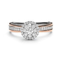 Lino and sons - Cincin Berlian F VVS (Maxwell Cushion Diamond Ring)