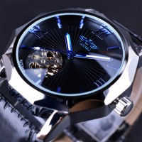 GMT964 Automatic Mechanical Watch Transparent Skeleton Dial Men