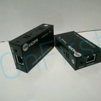 Hdmi Extender Tx To Rx Kabel Lan Rj45 60Meter Full Hd