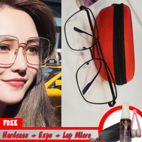 Kacamata wanita retro populer vintage dengan lensa lebar besar