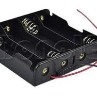4x 18650 Battery Holder Baterai Case Batere Box Kotak Batre Dengan Kab