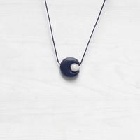 Boho Rainbow Moonstone Choker Necklace Kalung Hippie Bulan Sabit