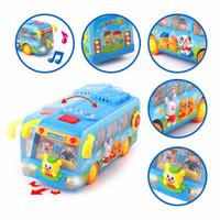 Mainan Bayi Bis Sekolah | Mainan Anak Bus Sekolah + Lampu dan Musik