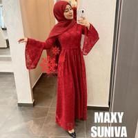 dress / dress brukat / maxi dress / dress panjang / brukat / brokat