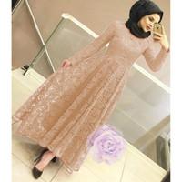 dress / maxi dress / dress panjang / dress brukat / brokat / brukat