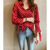 blouse / kemeja / polkadot / baju / baju wanita / atasan / hem