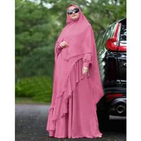 gamis + gamis syari + dress muslim + bergo + kaftan