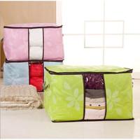 Storage bag flower Tas jumbo Box tempat Pakaian baju laundry Bed cover