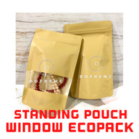 Standing Pouch WINDOW ECOPACK Litho Paper 150 Kopi Granola Masker Oat