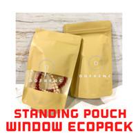 Standing Pouch WINDOW ECOPACK Litho Paper 250 Kopi Granola Masker Oat