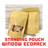 Standing Pouch WINDOW ECOPACK Litho Paper 500 Kopi Granola Masker Oat