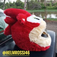 Sarung Cover Helm SONIC Merah Karakter Unik Elmo stitch keren