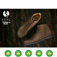 sepatu pria boot boots redwing clarks kulit safety martens brodo a41