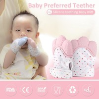 Teether Sunday Baby Teething Mitt - Mainan Gigitan Bayi SIlicone Kain