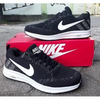 Sepatu NIke Impor Zoom Running Terbaru Black White 1