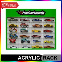 Rak Hotwheels Acrylic Isi 24, Slim Fit Edition PIntu Sleeding 1:64