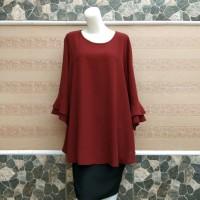 blouse wanita jumbo /big size warna merah hati