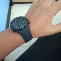 Tali jam tangan strap rubber + clasp strap suunto core Black