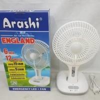 "Kipas Angin Emergency + Lampu Arashi AR 138 "" England """