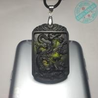 Liontin Kesehatan Giok Hitam Black Jade Ukiran Naga