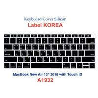 Keyboard Protector Label Korea Macbook Air 13 2018 - Layout US - Black