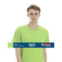 GoFit Premium Cotton 8600 Light Green Kaos Pria kaos polos nsa gildan