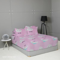 King Rabbit Seprai Queen 160x200 cm Motif Sweet Dream Pink