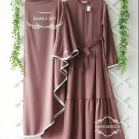 Baju Wanita Gamis Syari Nabila Plus Khimar Maxi Dress Muslim