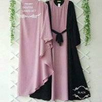 Baju Wanita Gamis Syari Shafiya Maxi Dress Plus Kerudung Khimar Muslim