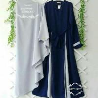 Baju Wanita Gamis Syari Marwah Plus Khimar Maxi Dress Fashion Muslim