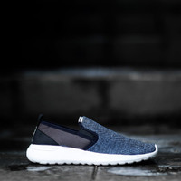 SNEAKERS ADIDAS CLOUDFOAM SLIP ON NAVY BLACK WHITE