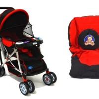 Stroller Bayi Labeille Classic | Stroller Bayi - Biru, Merah
