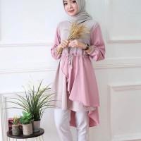 Blouse hijaber/ Atasan murah / Baju muslim wanita terbaru : Inaka long