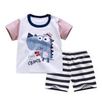 setelan baju bayi Dino pakaian bayi anak