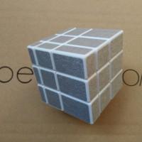 Rubik Yongjun Mirror 3X3 Silver White Base Original