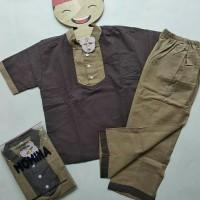 Baju Setelan Koko Anak Momina uk 5-8th : Baju Koko Anak