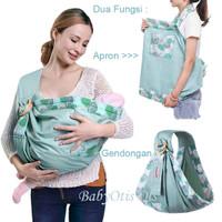 Baby Sling Carrier Gendongan Bayi dan Apron Menyusui Dua Fungsi 2 in 1