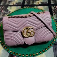 g u c c i quilted marm0nt sling bag nude purple 26cm