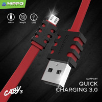 Kabel Data Hippo Caby 3 Micro USB 100cm - Kabel Charger & Data Caby3