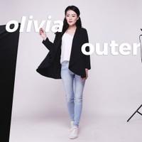 Olivia Basic Outer Plain Cardigan Jaket Wanita JK448