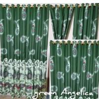 green angelica smokering gorden 130 x 220 home made murah