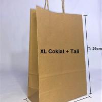Paperbag SOS XL 20x9x29cm Coklat + Tali